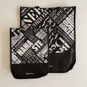 ❤️💙 Set of Lululemon Reusable Gift Tote Bags